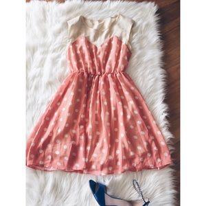 Dresses & Skirts - 24hrSale❗️Ochirly Polka Heart shape Dress SM