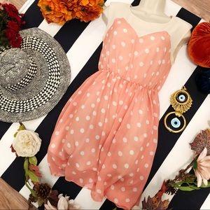 Ochirly Polka Heart shape Front Dress SM