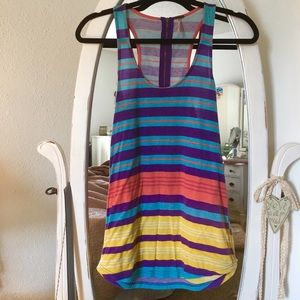 Poof! Tops - Multicolored striped tank top! Size S