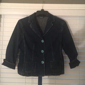 Tahari Jackets & Blazers - Tahari Blue Denim Jacket