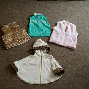 Guess Other - 3 vest and 1 poncho for baby girl