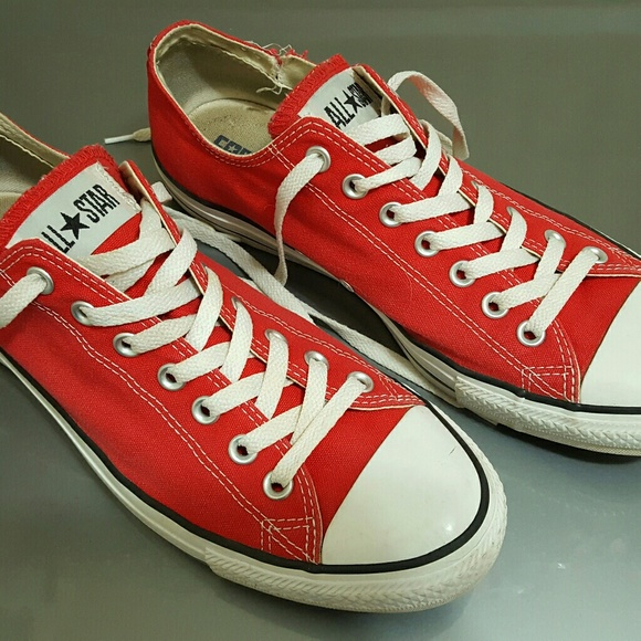 a31c0211b4bc Converse Other - Converse RED Low Top Chucks 10 All Stars