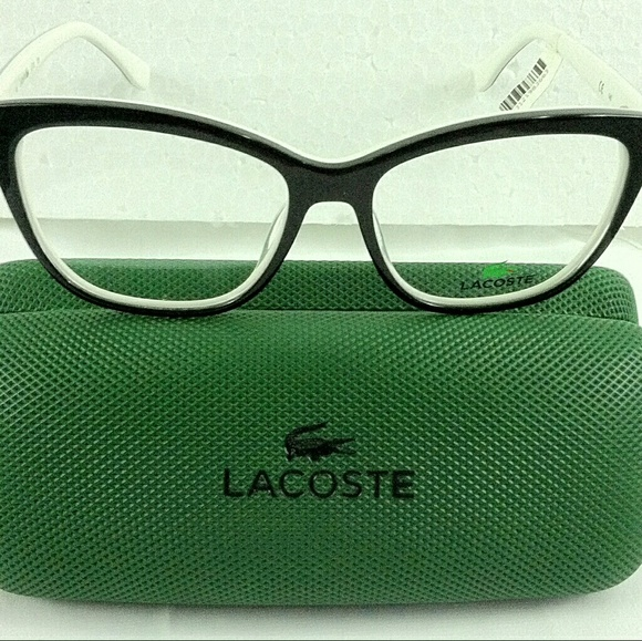9871475926eb Lacoste womens eyeglass frames with case cloth NEW