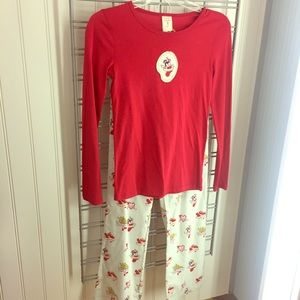 Munki Munki red cotton pajama set