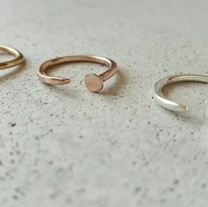 Iconic Legend Jewelry - Adjustable nail ring dainty carter