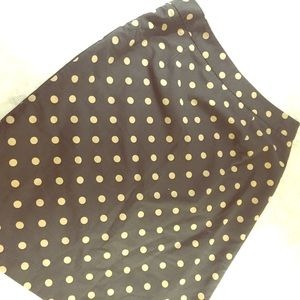 Boden Dresses & Skirts - Boden Polkadot Tan and Gray Skirt Size 6 US