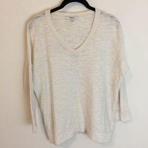Madewell Tops - Madewell White Cream V-neck Blouse Shirt