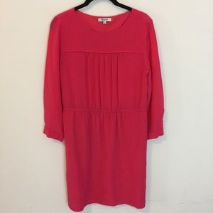 Madewell Dresses & Skirts - Madewell Pink Silk Midi Shirt Dress