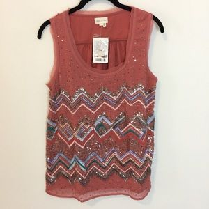 Anthropologie Tops - NWT Anthro Meadow Rue Sequin Embellished Shirt Top