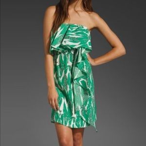 MM Couture Dresses & Skirts - MM Couture Green Tropical Strapless Dress