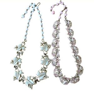 Authentic Original Vintage Style Jewelry - Vintage Retro 1950s Coro Necklaces