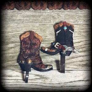 Other - 1 Pair of decorative cowboy boot door/wall hangers