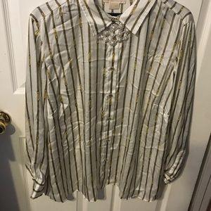 MICHAEL Michael Kors  long sleeve blouse 3X 