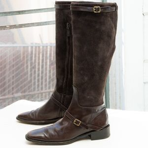 Ralph Lauren tall riding boot, brown leather strap
