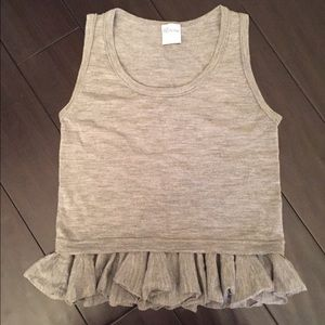 RED Valentino Tops - RED VALENTINO Grey Ruffled Top