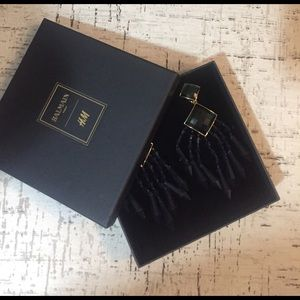 Balmain x H&M Jewelry - Balmain x H&M Emerald Statement Earrings