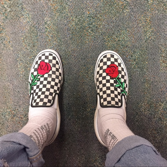 vans era checkerboard custom