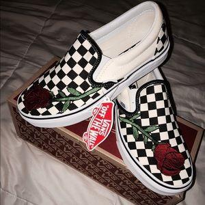 9fd60cdb069 Vans Shoes - Custom Embroidered Checkered Vans