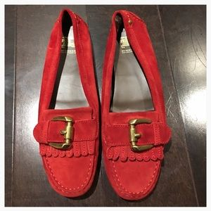 Burberry Shoes - Authentic Burberry 🔴 Red Kiltie Style Loafers