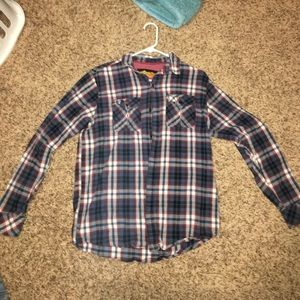Tilly's Tops - Blue and red flannel! Perfect condition NWOT