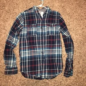 Tilly's Tops - Navy blue and red flannel! Very soft NWOT!