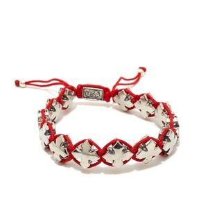 King Baby Studio Jewelry - King baby studio cross red macrame bracelet NWT
