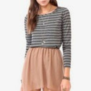 🎁 Forever 21 striped grey long sleeve