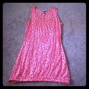 Charlotte Russe fun cheetah tank top