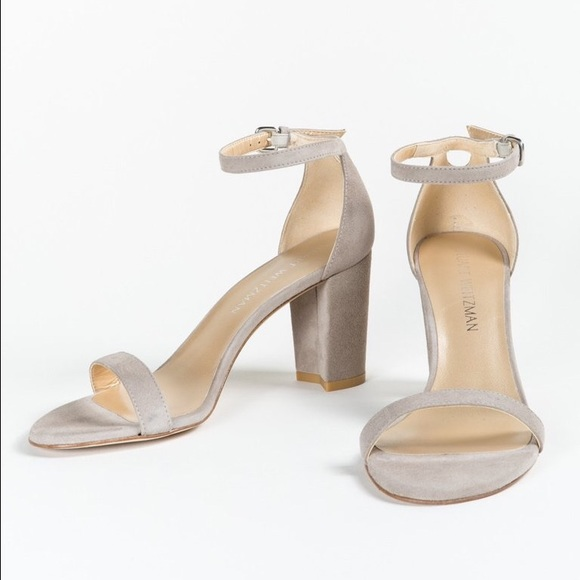 0a9ae8378cd STUART WEITZMAN NearlyNude sandals - fossil suede
