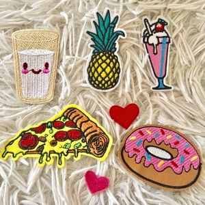 Food Iron On Denim Jacket Patches
