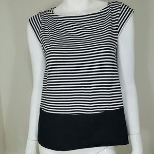 kate spade Tops - Kate Spade Broome Street Black White Striped Top S
