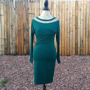 Dresses & Skirts - Forest green midi dress