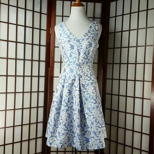 Taylor Dresses & Skirts - Blue and White TAYLOR Fit and Flare Dress Size 2