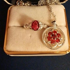 Jewelry - Stunning .925 sterling silver ring and necklace