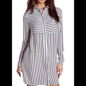 OASAP Dresses & Skirts - OASAP vertical stripe shirt dress