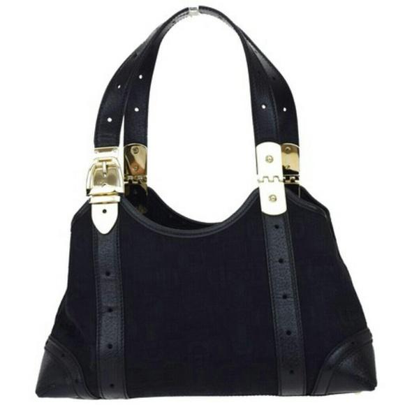 18e22983b382 Gucci Bags | Black Embossed Horsebit Tote | Poshmark