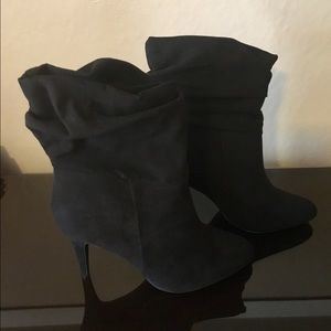 Candie's Shoes - Candie's black suede heeled boots