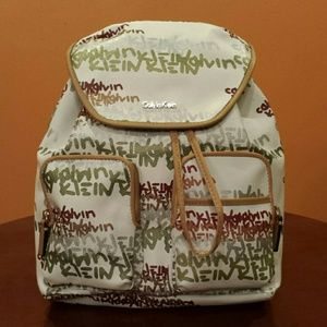 Calvin Klein Other - Calvin Klein Signature Logo Graffiti Backpack
