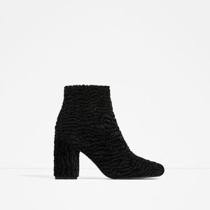 ZARA Faux Fur Boots