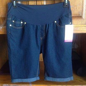 Rumor Has IT Pants - Rumor Has IT Maternity Denim Shorts M
