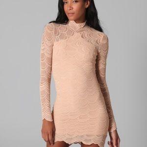 Nightcap Dresses & Skirts - Nude Nightcap Mini Dress Free People