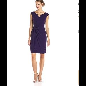connected apparel Dresses & Skirts - Plus size drape front keyhole dress