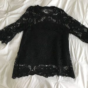 Zara lace top - lined