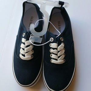 Old Navy blue kids sneakers .