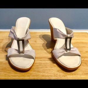 Shoes - Gorgeous Italian Made White Slides, EUC!!