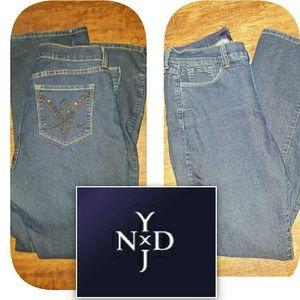 NYDJ Denim - NYDJ straight stretch jeans 12