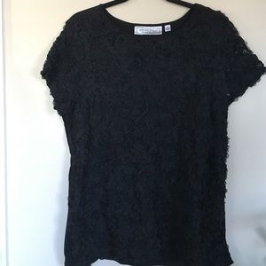 George Simonton Tops - Black Lace Top - Fully lined