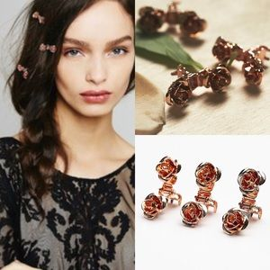 Free People Accessories - NWT free people mini rose gold hair clips barrette