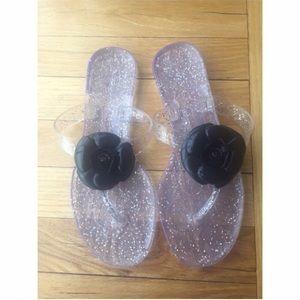 Carolina Herrera Shoes - Purple & Black Carolina Herrera Jelly Sandals