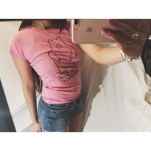 Converse Other - Pink graphic tee